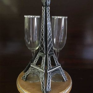 Eiffel Tower Wedding Glass