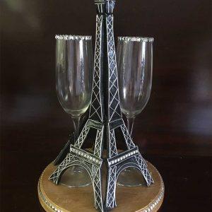 Eiffel Tower Wedding Glass